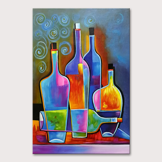 Oil Painting Hand Painted - Still Life Modern Rolled Canvas
