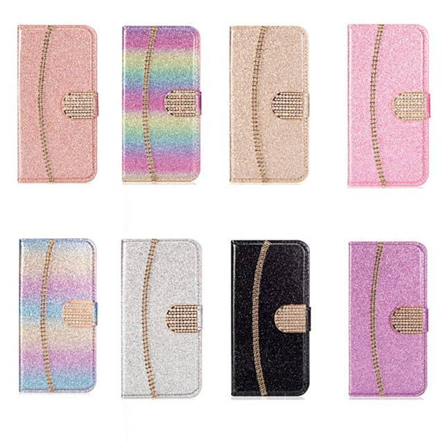 Case For Samsung Galaxy A51 / M40S /A71 Wallet / Shockproof chain  Diamond Glitter PU Leather Case For Samsung S20 Plus / S20 Ultra/A20e/A50s/A30s/A10/A60/A70/A80/S10 Lite/S10 5G/S10 Plus/Note 10 Plus
