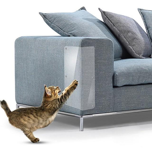 4 stk 14 * 48 cm sofa katteskraper matte skrape kattetre skrape klo post beskytter sofa for katter skrapelapper pads pads pet møbler