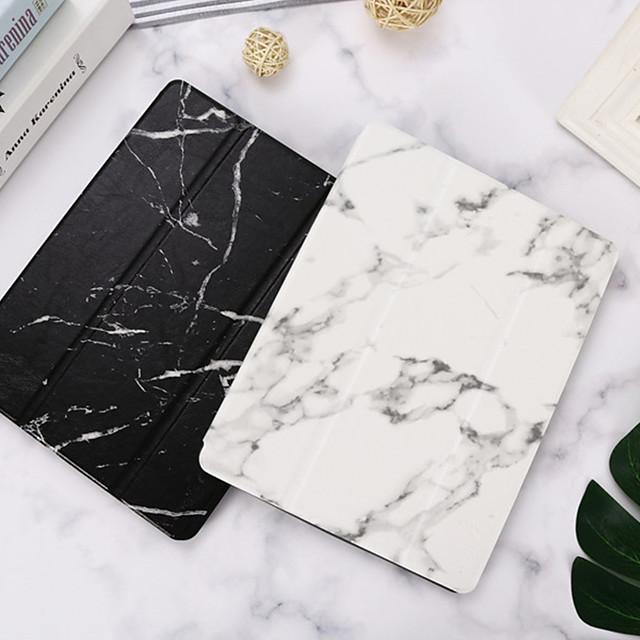 Case For Apple iPad Mini 3/2/1 / iPad Mini 4 / iPad Mini 5 with Stand / Flip Full Body Cases Marble PU Leather