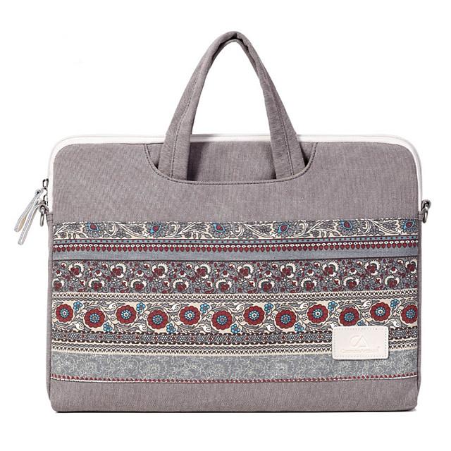13.3 Inch Laptop / 14 Inch Laptop / 15.6 Inch Laptop Shoulder Messenger Bag / Briefcase Handbags Canvas Bohemian for Women Shock Proof