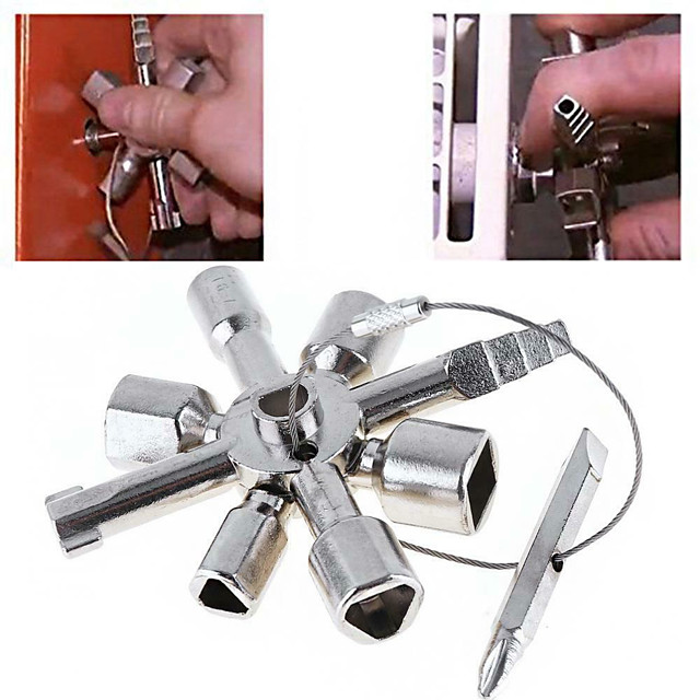 10 in 1 multi cross switch plumber key wrench square trilateral steel universal