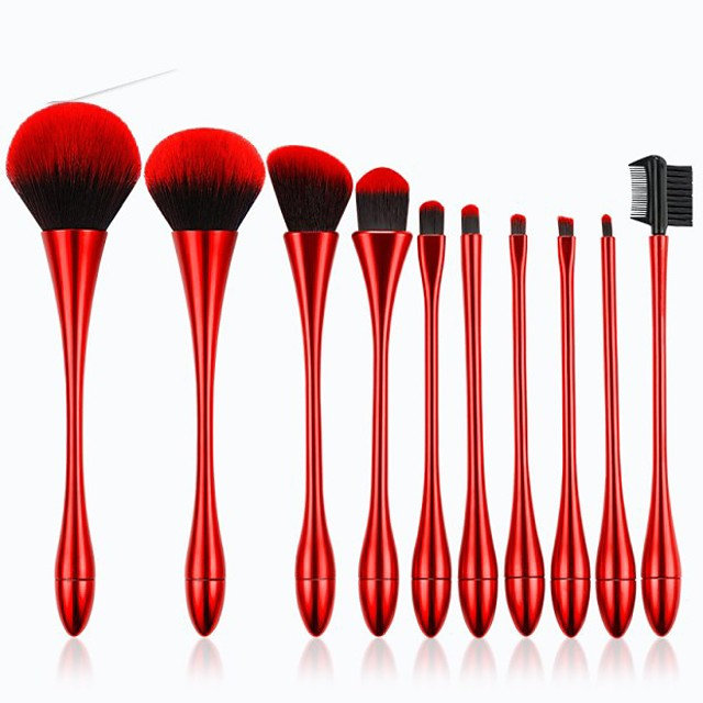 Professional Makeup Brushes 10pcs Professional Creative New Design Sexy Lady Synthetic Hair Plastic for Makeup Brush