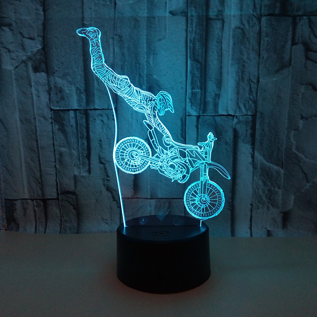 3D Nightlight Color-Changing / with USB Port Touch USB 1pc