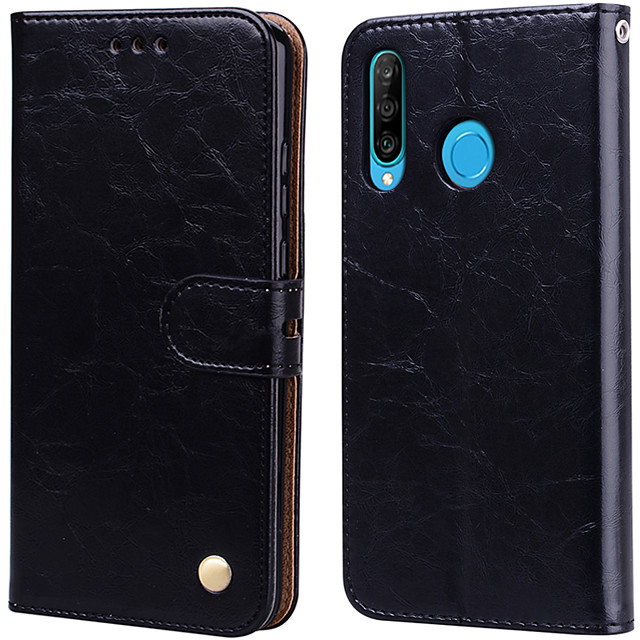 Case For Huawei P30 Lite Palace flower PU Leather with Card Slot Flip up and down  For Huawei P30 Lite