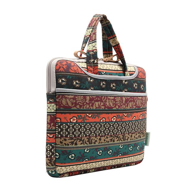 KAYOND 13.3 Inch Laptop / 14 Inch Laptop / 15.6 Inch Laptop Briefcase Handbags Canvas Bohemian for Women Shock Proof