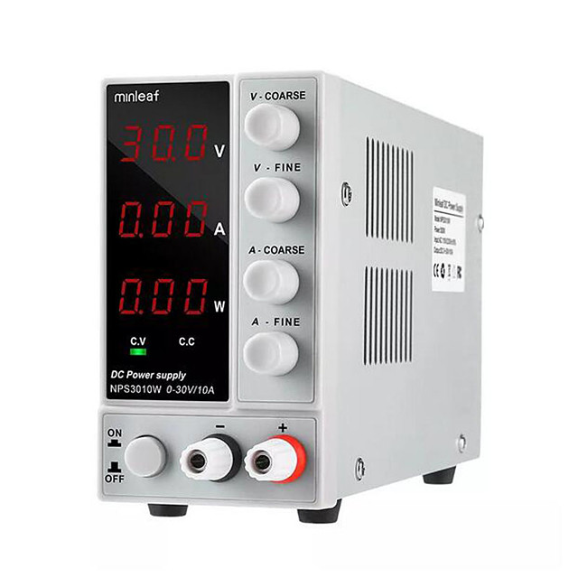 Minleaf NPS3010W 110V/220V Digital Adjustable DC Power Supply 0-30V 0-10A 300W Regulated Laboratory Switching Power Supp