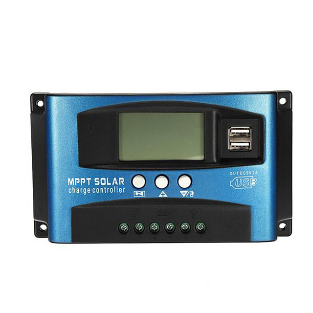 40A MPPT Solar Controller LCD Solar Charge Controller Accuracy Dual USB Solar Panel Battery Regulator - 40A