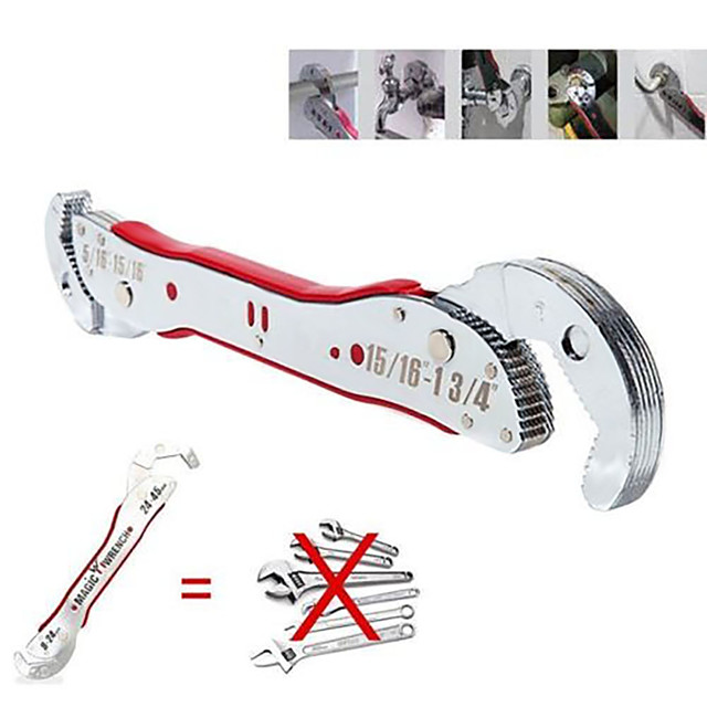 9-45mm adjustable magic wrench multi-function universal spanner tool sliver color 29.5*4.3*4.8cm