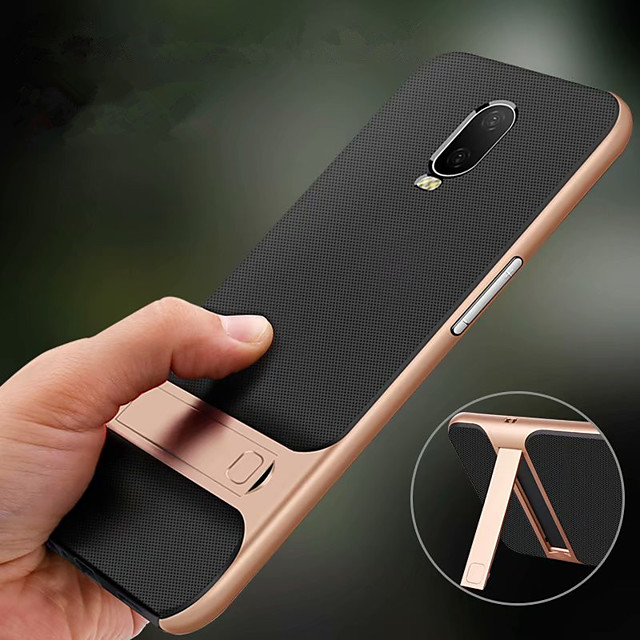 Holder Stand Case for OnePlus One Plus 7 Pro One Plus 7 Hard PC Soft TPU Shockproof Back Cover for One Plus 6T One Plus 6