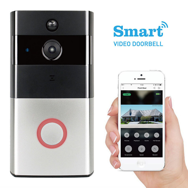 K-03L 1280 x 960 WIFI Photographed No Screen(output by APP) Telephone Smart Video Doorbell 166° Viewing Angle One to One Video Doorphone Home Security System
