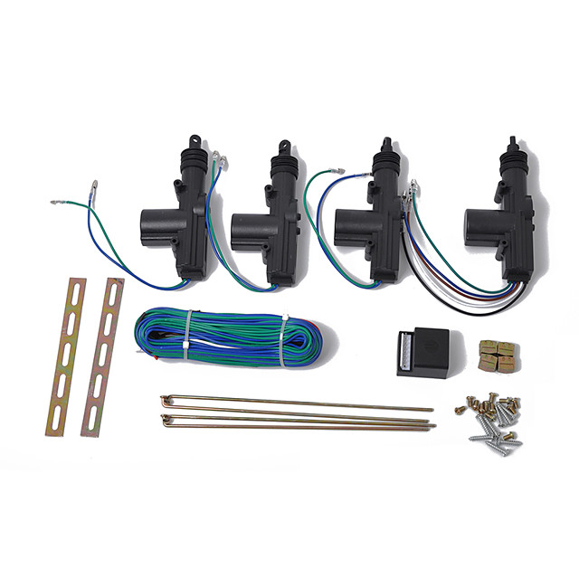 12V Door Power Central Lock Kit with Actuator for Universal Car Entry Car Remote Control Accessories