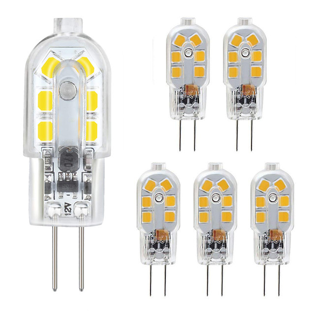G4 LED Bulb 6 Pack 2.5W LED Bi-pin G4 Base 10-20W Halogen Bulb Replacement Warm White /Cold White AC220V