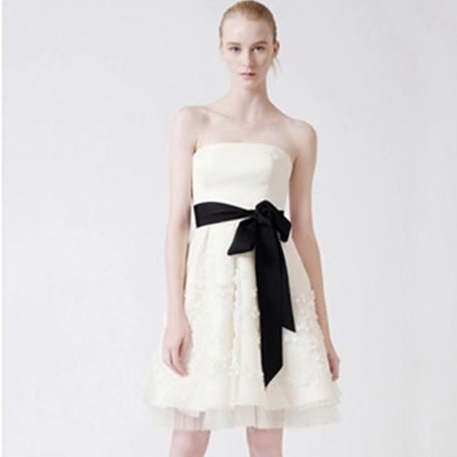 Gemstone & Crystal / Grosgrain Wedding Sash With Belt Women's Sashes