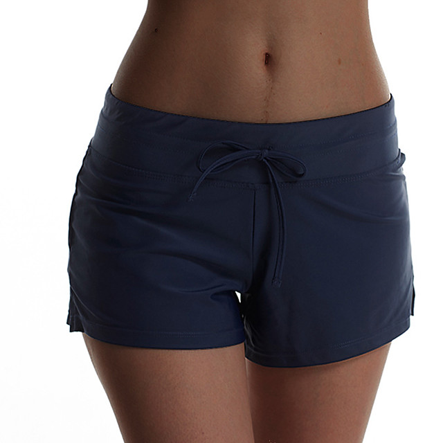 Women's Swim Shorts Board Shorts Bottoms Quick Dry Swimming Surfing Beach Solid Colored Autumn / Fall Spring Summer / Micro-elastic