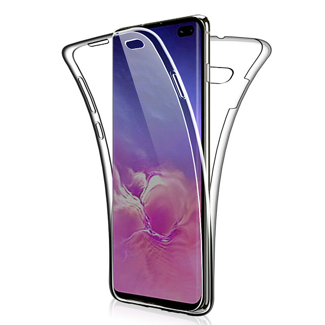 360 Double Silicone Case For Samsung Galaxy S10 Plus S10 E S10 S9 Plus S9 S8 Plus S8 S7 Edge S7 Note 9 Note 8 Note 10 Plus Note 10 Transparent clear Soft TPU Case Cover