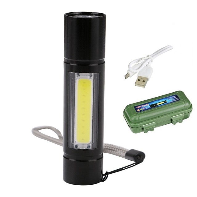 LED Flashlights / Torch Handheld Flashlights / Torch Flashlight Body 2300 lm LED Emitters 3 Mode with Battery and USB Cable Portable Windproof Cool Easy Carrying Wearproof Camping / Hiking / Caving