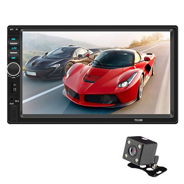 SWM 7018B+4LED camera 7 inch 2 DIN Other OS Car MP5 Player Touch Screen / MP3 / Built-in Bluetooth for universal RCA / MicroUSB / Other Support MPEG / MPG / WMV MP3 / WMA / ALAC JPEG / BMP / PNG