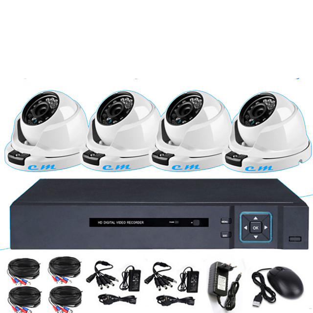 8CH Monitoring System AHD Coaxial Simulation 1080P 2Million Infrared Night Vision HD Indoor Hemisphere Monitor Set