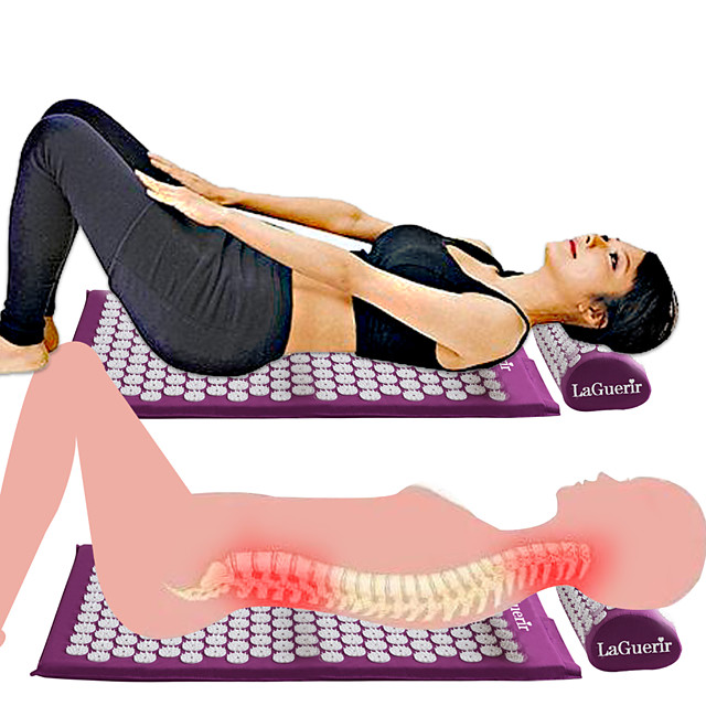 New Massager Cushion Massage Mat Acupressure Relieve Back Body Pain Spike Mat Acupuncture Massage Yoga Mat and Pillow