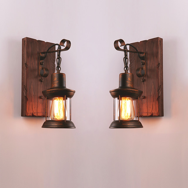 Creative Rustic Lodge Vintage Wall Lamps & Sconces Indoor Metal Wall Light 110-120V 220-240V 60 W
