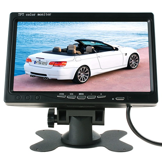 ZIQIAO 7 Inches TFT LCD Car Display Parking System Car Rear View Monitor For Car / Bus / Truck AV Interface