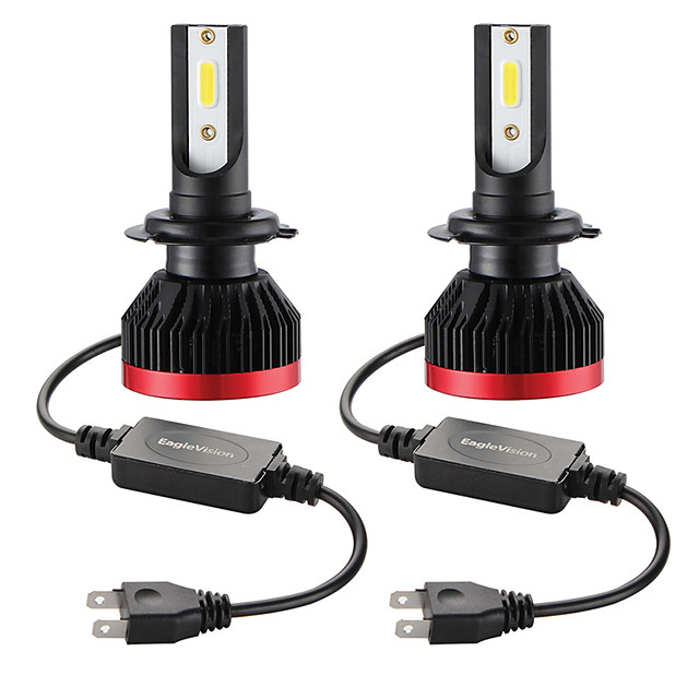 2PCS Mini Led Bulb Car Headlight H7 100W 20000LM 6000K Car Headlight IP67 Waterproof Plug and Play Perfect Quick and Easy Installation by Plugging In and Replacing Stock Bulbs