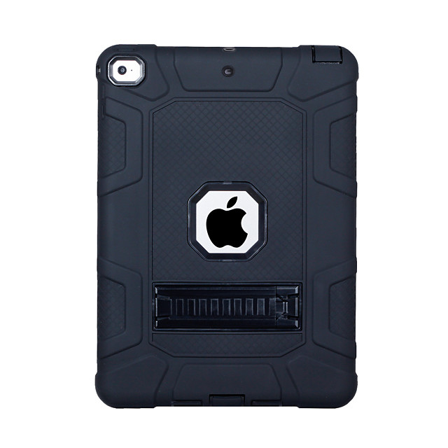 Case For Apple iPad (2018) / iPad (2017) Shockproof / with Stand Back Cover Solid Colored PC / Silica Gel