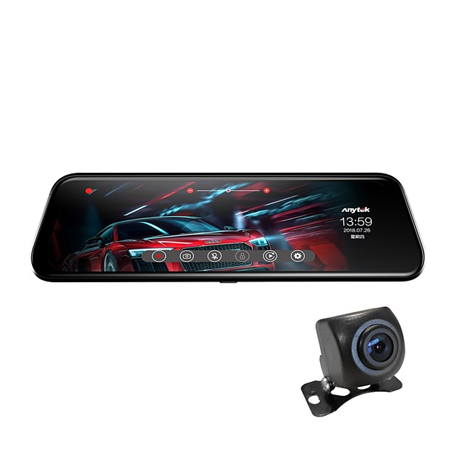 Anytek T12+ 1944p New Design / Dual Lens / Boot automatic recording Car DVR 170 Degree Wide Angle 2.0MP CMOS 9.7 inch Dash Cam with G-Sensor / Parking Monitoring / motion detection No Car Recorder