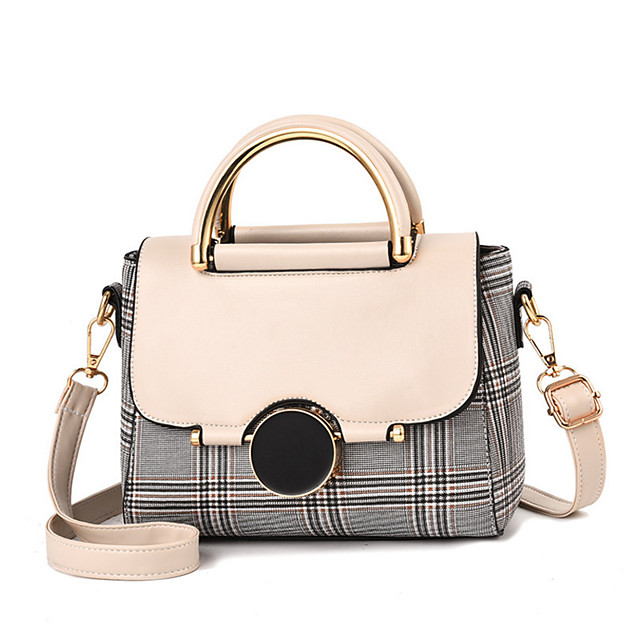 Women's Bags PU Leather / PU(Polyurethane) Top Handle Bag for Daily / Office & Career White / Black / Red / Fall & Winter