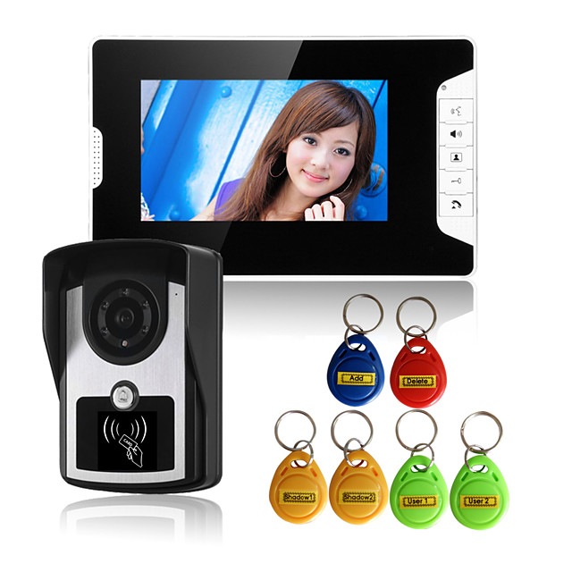 813FCID11 Wired RFID 7 inch Hands-free 800*480 Pixel One to One video doorphone