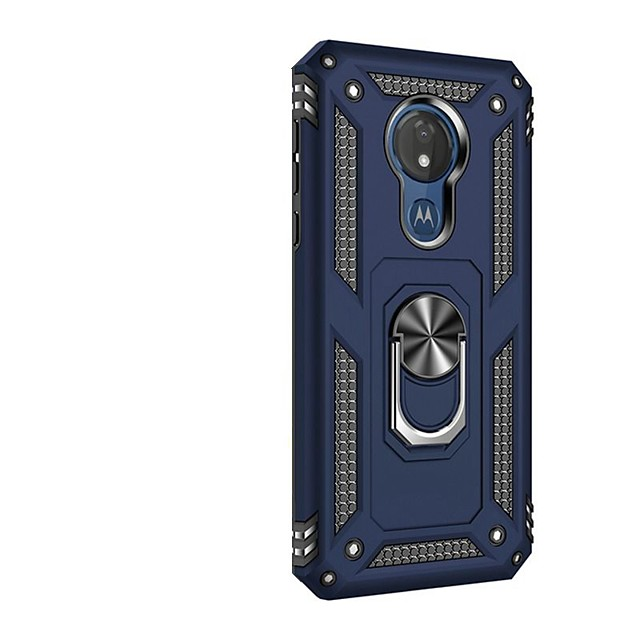 Case For Motorola Moto G7 / Moto G7 Play / Moto G7 Power Shockproof / with Stand / Ring Holder Back Cover Armor TPU / PC