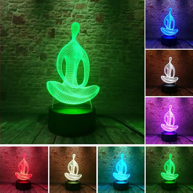 3D Nightlight For Children Creative Birthday USB 1pc