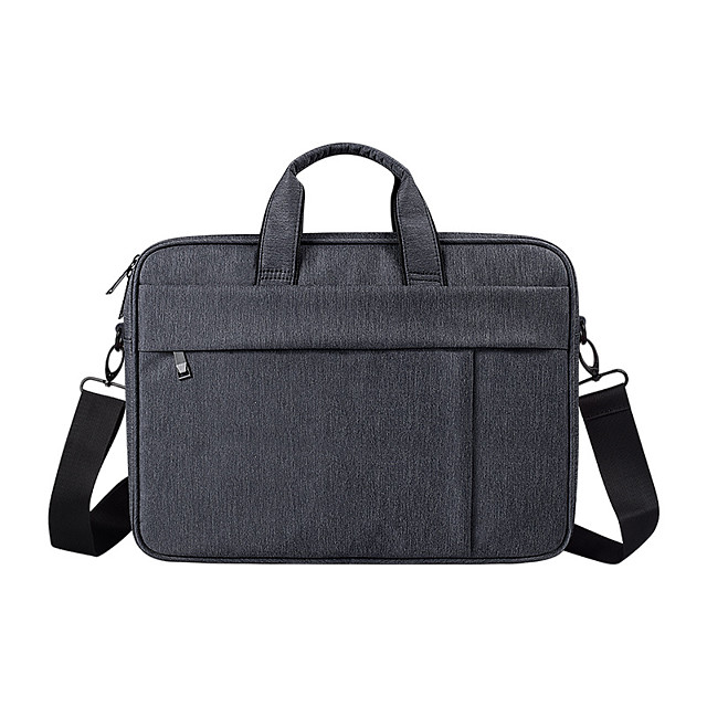 13.3 Inch Laptop / 14 Inch Laptop / 15.6 Inch Laptop Sleeve / Shoulder Messenger Bag Nylon Fiber Solid Color / Textured for Business Office for Colleages & Schools Waterpoof Shock Proof