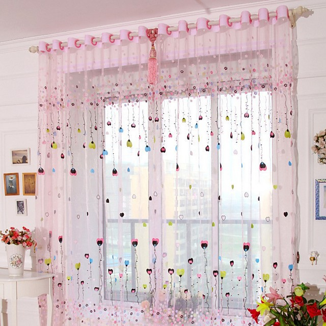 Sheer One Panel Sheer Living Room   Curtains