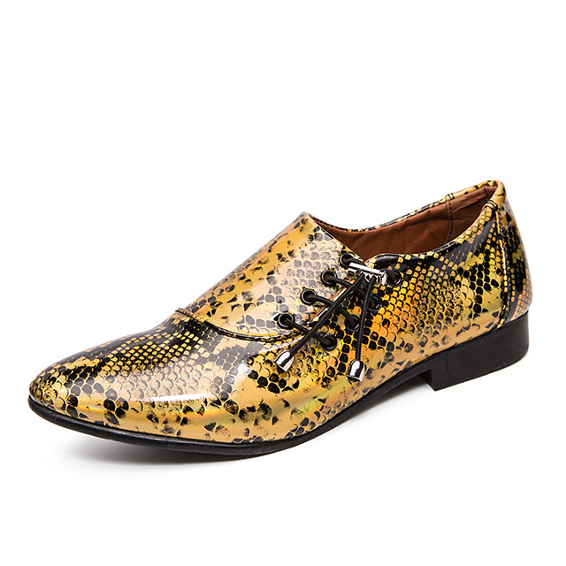 Men's Summer / Fall Classic / Casual Daily Office & Career Loafers & Slip-Ons Faux Leather Non-slipping Wear Proof Purple / Gold / Silver
