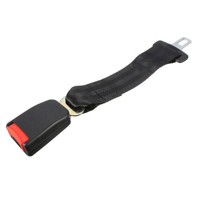 1Pcs 14 Inch Polyester Safety Belt 7/8 Inch Buckle Seat Belt Car Seat Belt Extender Black