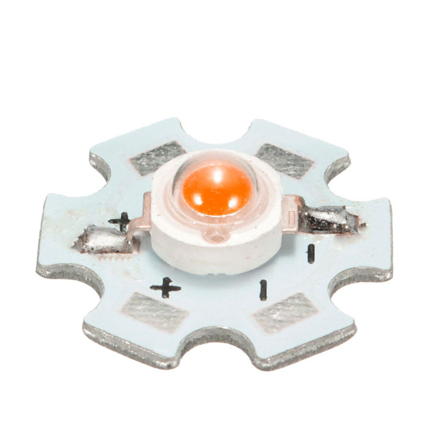 1pcs 3W High Power LED PCB Bulb Beads Chips Car Indoor Reading Lamp Aquarium Heat Sink - Yellow