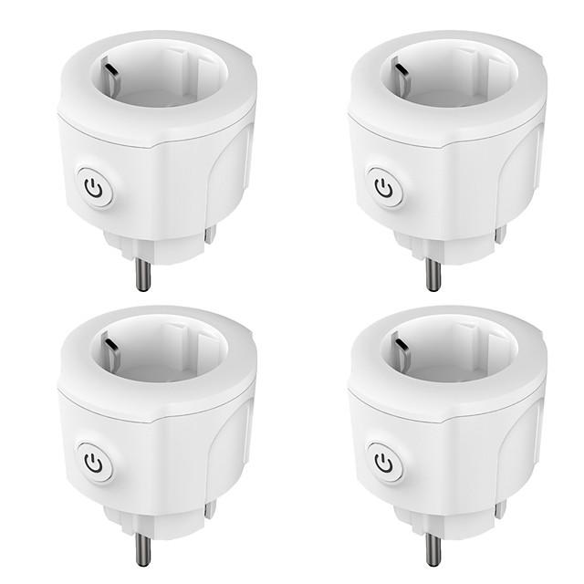 4 Pack Smart Plug  for Living Room / Study / Bedroom APP Control / Timing Function / Smart WIFI 110-150 V Smart Sokcet Four Pack-EU PLUG