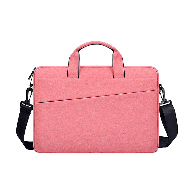 Unisex Oxford Cloth Laptop Bag Zipper Solid Color Daily Office & Career Dark Grey Black Pink Light Grey