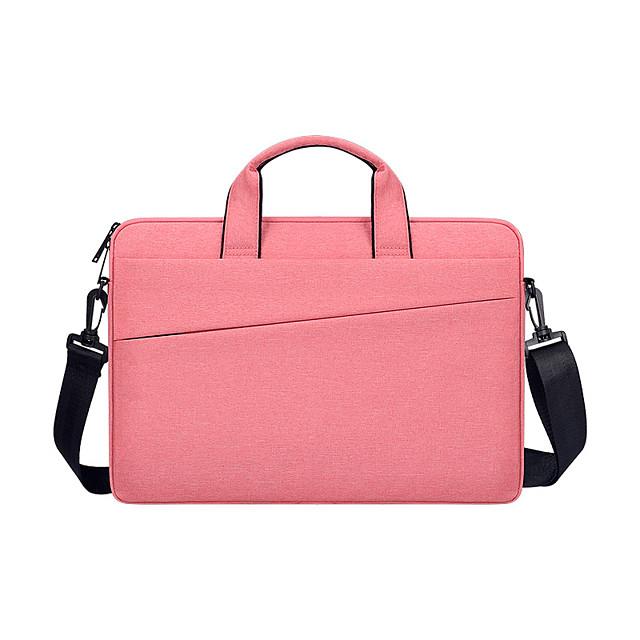 Unisex Oxford Cloth Laptop Bag Zipper Solid Color Daily Office & Career Dark Grey Black Pink Light Grey