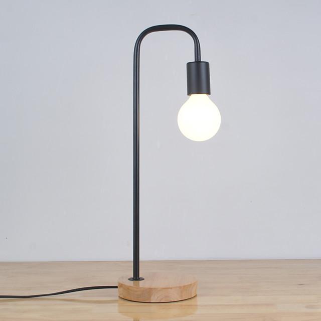 Table Lamp Desk Lamp Reading Light Decorative Simple Modern Contemporary For Bedroom Study Room Office Metal 85-265V Black