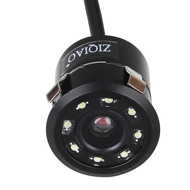 ZIQIAO Universal 8 LED HD Night Vision 18.5mm Car Rear View Camera 170-degree Rear View Backup Camera