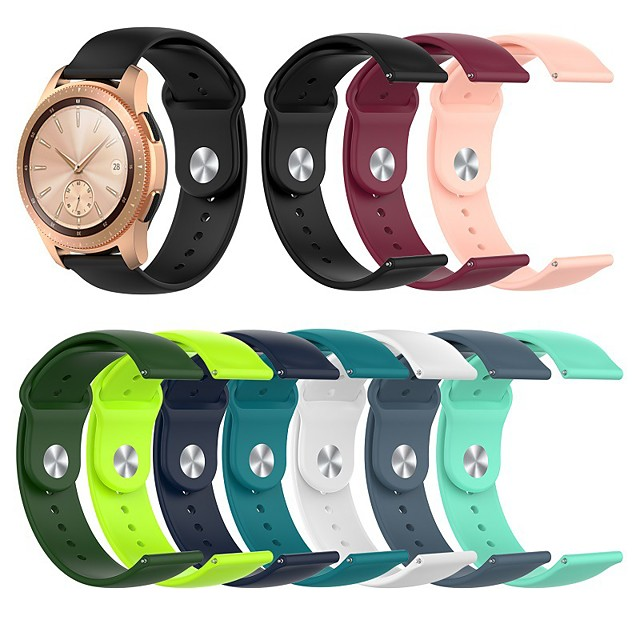 Watch Band for Gear S3 Classic / Gear 2 R380 / Gear 2 Neo R381 Samsung Galaxy Sport Band / Classic Buckle Silicone Wrist Strap