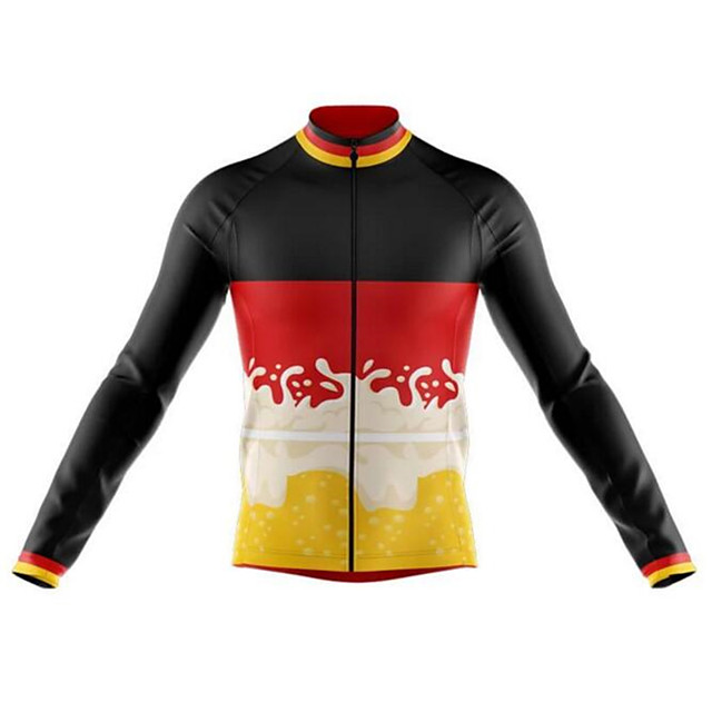 Cycling MTB Bike Jersey long sleeve Sport  Black /& Red//White Men Unisex M L XL