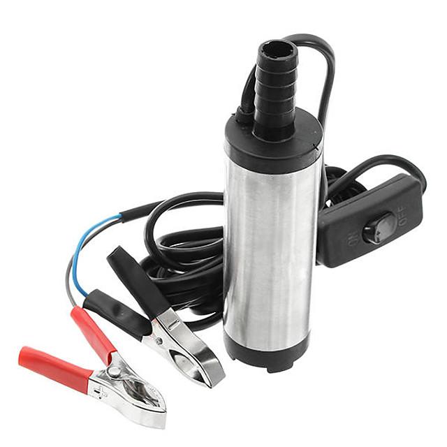 12V/24V Electric Diesel Pump Fuel Water Oil Portable Stainless Steel Diesel Pump - 12V