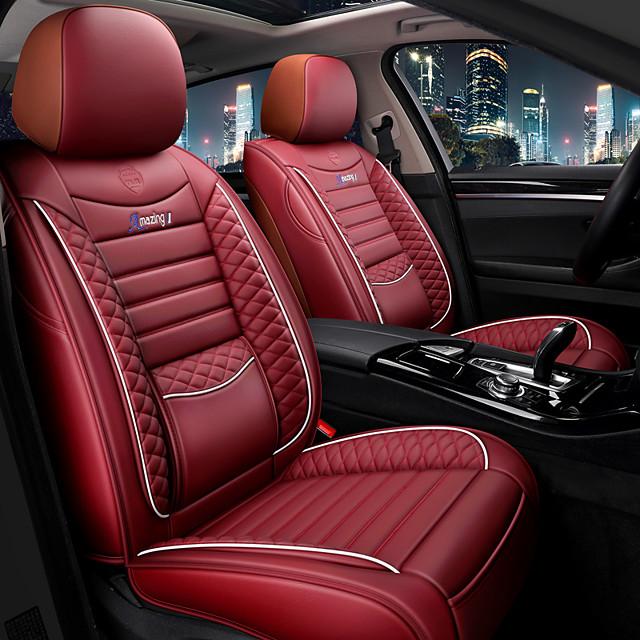 Universal Car Pu Leather Seat Mats, Football Car Seat Covers