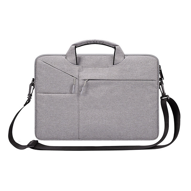 13.3 Inch Laptop / 14 Inch Laptop / 15.6 Inch Laptop Sleeve / Shoulder Messenger Bag / Briefcase Handbags Nylon Fiber Solid Color / Textured for Business Office for Colleages & Schools Waterpoof