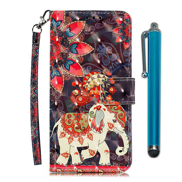 Case For LG Stylo 4 / LG Stylo 5 Wallet / Card Holder / with Stand Full Body Cases Phoenix Elephant PU Leather