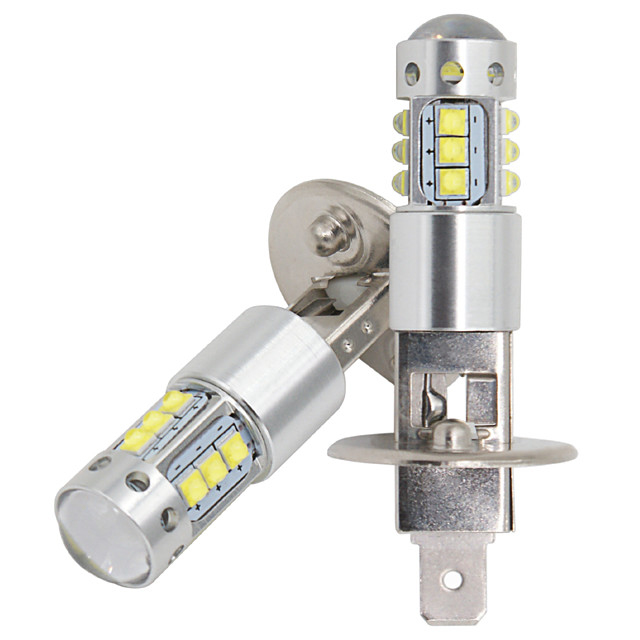 2pcs Car H1 led 16SMD LED with cree chips Fog Lamp 80W 16LED Tail Lights DRL fog Light headlight Bulb 12-24v